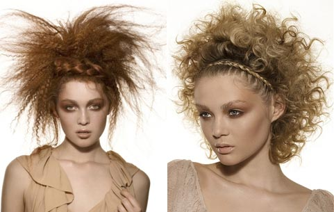Зачіски на кожен день для кучерявого волосся
