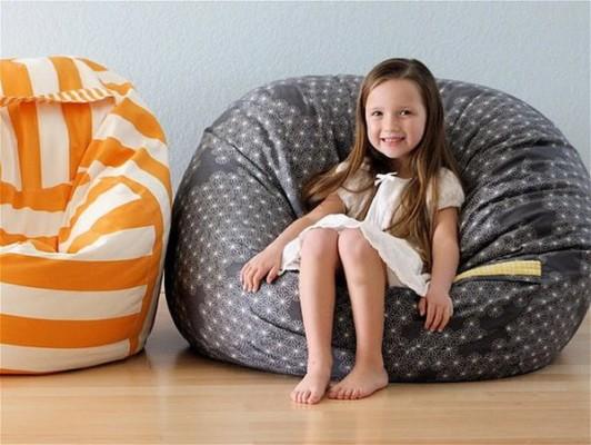 Мягкая мебель для детской комнаты: кресло-мешок